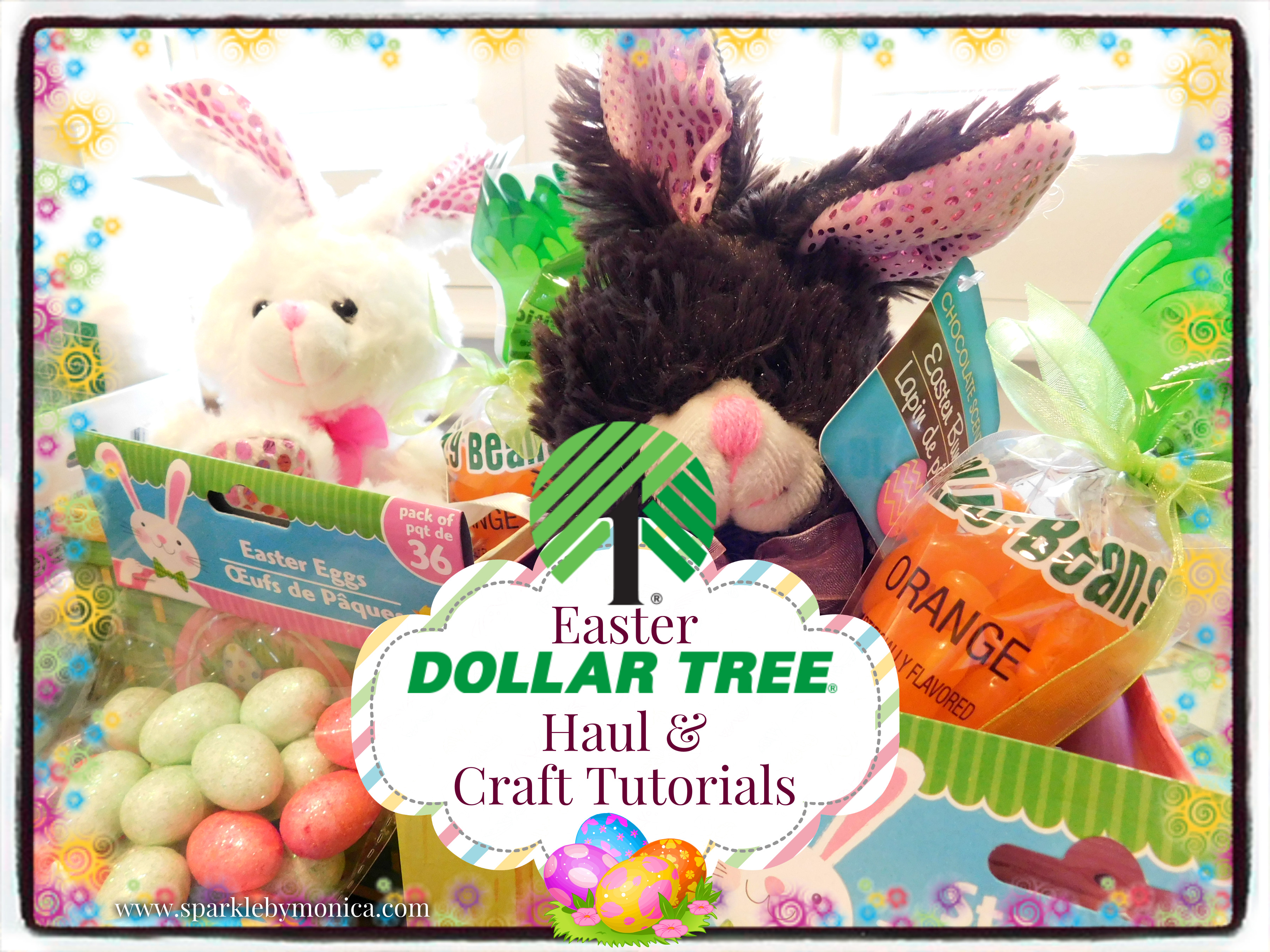 Dollar Tree Easter Haul And Craft Tutorials With Video